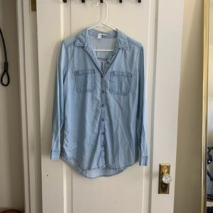 Nordstrom Chambray Blue Top S